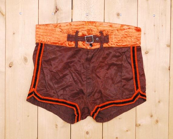 Vintage 1940's/50's Satin Basketball Shorts / Voll