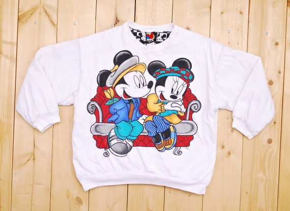 Vintage 1980's MICKEY MOUSE and MINNIE Padded Swea
