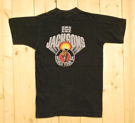 ed729652c Vintage 1984 MICHAEL JACKSON Pepsi Wold Tour T-Shirt / 1984 | Etsy