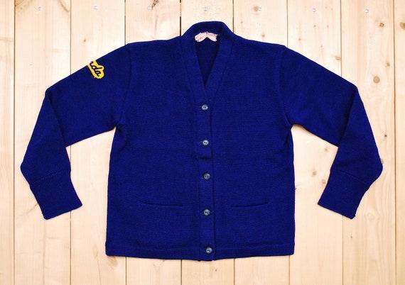Vintage 1950's/60's Dark Blue Wool VARSITY LETTER… - image 1