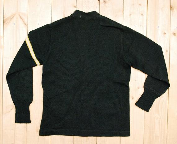 Vintage 1950's/60's Wool Hunter Green VARSITY LET… - image 4