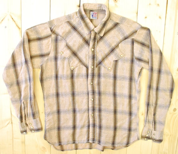 Vintage 1950's/60's LEVI STRAUSS Western Shirt / … - image 1