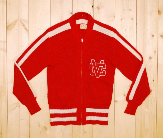 Vintage 1950's/60's Red VARSITY LETTERMAN Sweater