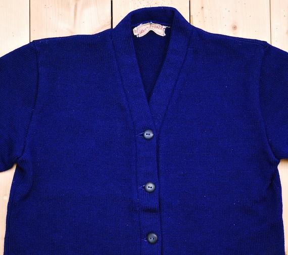 Vintage 1950's/60's Dark Blue Wool VARSITY LETTER… - image 2