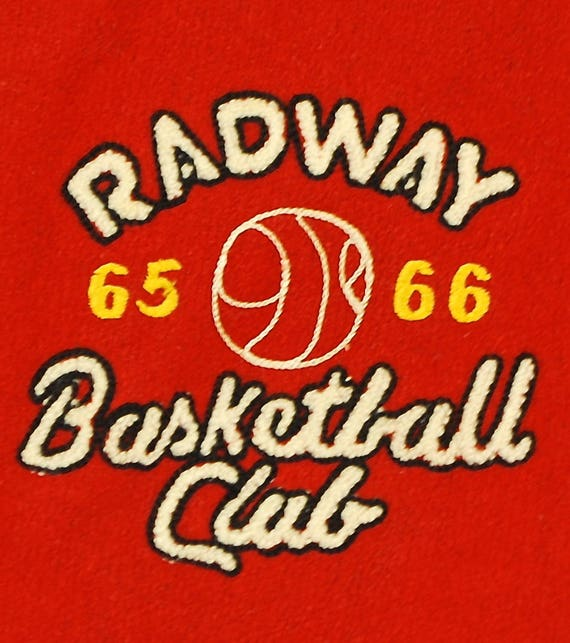Vintage 196566 Radway Basketball Club VARSITY LETTERMAN Jacket School College Retro Collectable Rare
