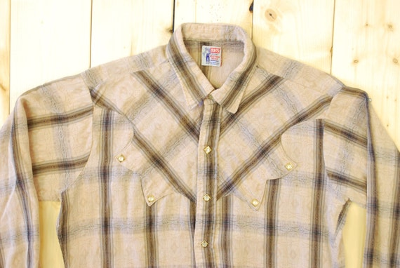 Vintage 1950's/60's LEVI STRAUSS Western Shirt / … - image 2