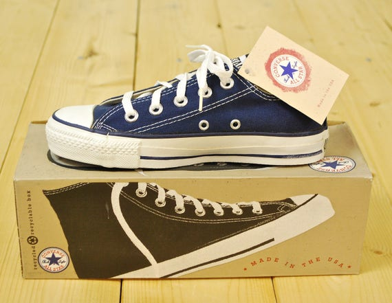 40f14c7917a5b2 Vintage 1990 s Deadstock Navy Blue CONVERSE CHUCK TAYLOR