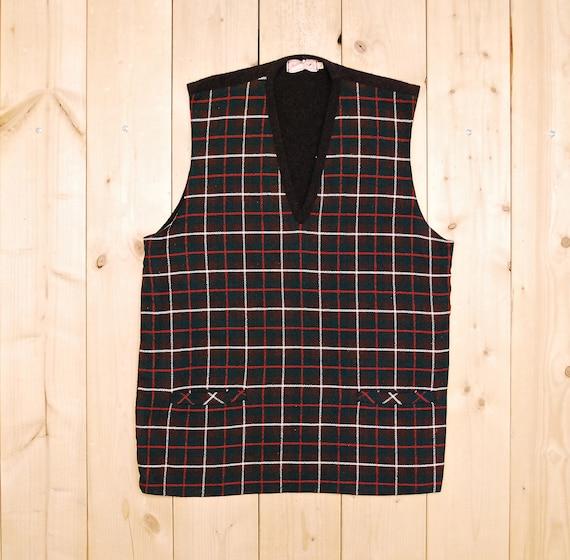 Vintage 1940's/50's JANTZEN Plaid Sweater Vest / R