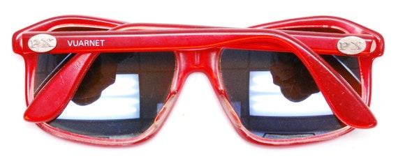 Vintage 1970's/80's Red VUARNET Sunglasses / Poui… - image 8