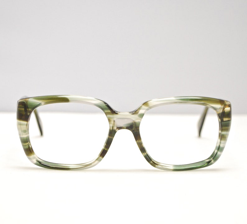 e1220552d4f0 Vintage 1960 s METZLER Brown and Green Tortoise Eyeglasses