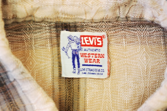 Vintage 1950's/60's LEVI STRAUSS Western Shirt / … - image 3