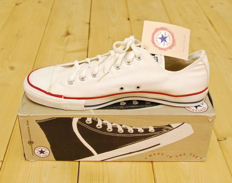 e85972ede0e8 Vintage 1990 s Deadstock Optical White CONVERSE CHUCK