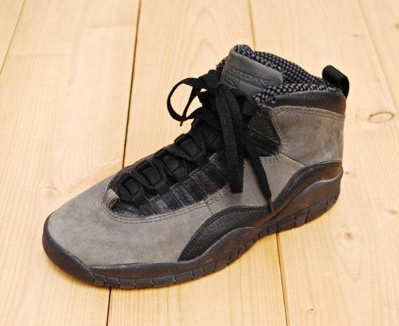 Vintage 1994 Dark Shadow NIKE AIR JORDAN Hi Top Sneakers Style# 130209 001 Size 6.5 Retro Collectable Rare