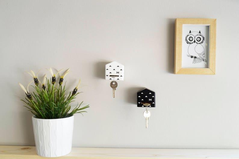 Key Holders Set of 2 Wooden Key Hangers Wall key holder image 0