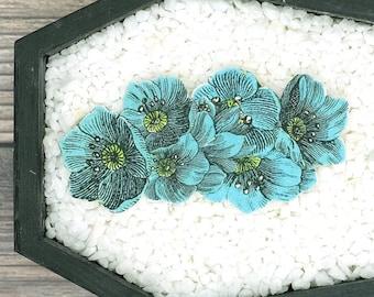 Teal Flowers Hair Clip Floral Hair Clip Spring Hair Clip Summer Hair Clip Bridesmaid Gift Wedding Gift Durable Wearable Art