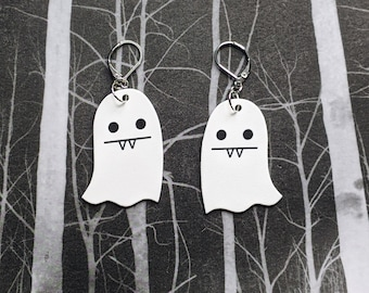 Vampire Ghost Earrings Goth Gothic Scary Odd Creepy Halloween Horror Earrings Fun Gift