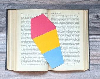 Pansexual Pride Rainbow Bookmark Goth Gothic Coffin LGBTQIA+ Queer Gay