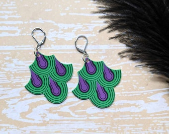 The Shining Inspired Room 237 Carpet Earrings Gothic Goth Horror Spooky Creepy Earrings Durable Wearable Art