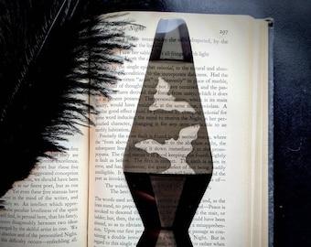 Lava Lamp Clear Bookmark Spooky Bats Goth Gothic Halloween Horror Creepy Oddities