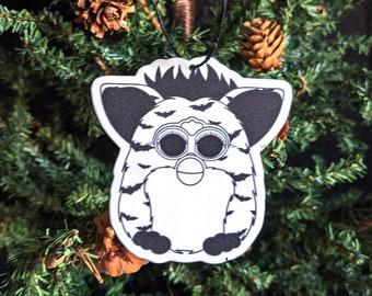 Furby Inspired Halloween Bats Ornament Goth Gothic Christmas Holiday Horror Creepy Odd Ornament Fun Gift
