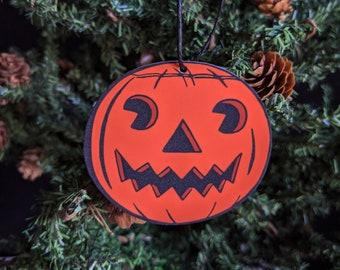 Vintage Jack-O-Lantern Pumpkin Ornament Goth Gothic Christmas Holiday Horror Creepy Odd Ornament Fun Gift