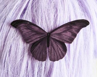 Purple Moth Hair Clip Goth Gothic Hair Clip Durable Wearable Art