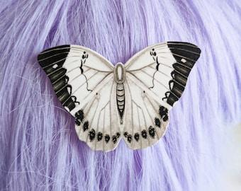 Vintage White Moth Hair Clip Horror Goth Gothic Halloween Hair Clip Durable Wearable Art
