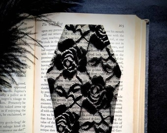Black Floral Lace Coffin Clear Bookmark Goth Gothic Halloween Horror Creepy Oddities
