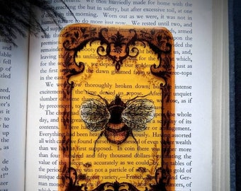 Clear Bookmark Victorian Vintage Bee Bug Insect Baroque Steampunk Goth Gothic Halloween Horror Creepy Oddities