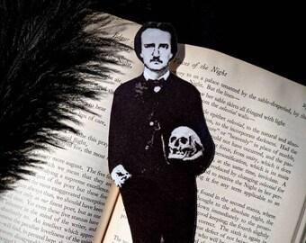 Edgar Allan Poe Inspired Bookmark Goth Gothic Halloween Horror Creepy Oddities