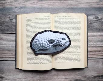 Gila Monster Skull Bookmark Reptile Lizard Nature Natural Goth Gothic Halloween Horror Creepy Oddities