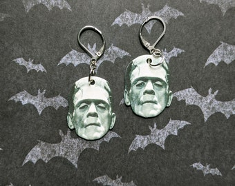 Frankenstein Inspired Earrings Universal Monsters Inspired Earrings Horror Earrings Gothic Gift Fun Gift Durable Wearable Art