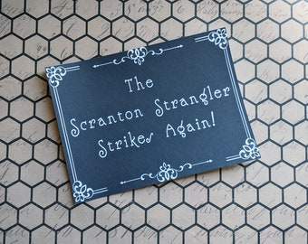 The Scranton Strangler The Office Inspired Art Print 5x7 Framed Print Home Wall Decor Goth Halloween Horror Gift