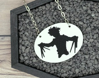 Edward Scissorhands Inspired Necklace Gothic Necklace Horror Necklace Durable Wearable Art