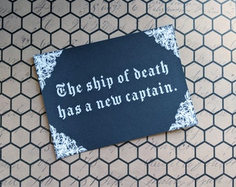 The Ship Of Death Has A New Captain Nosferatu Inspired Art Print 5x7 Framed Print Home Wall Decor Goth Halloween Horror Gift