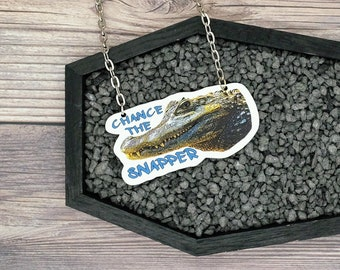 Chance The Snapper Alligator Chicago Gator Watch 2019 Logan Square Lagoon Necklace Pin Ornament Magnet