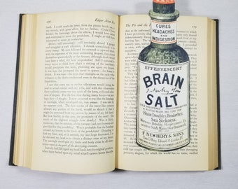 Brain Salt Apothecary Bottle Bookmark Goth Gothic Halloween Horror Creepy Oddities