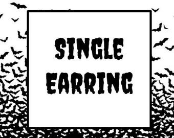 Single Earring One Earring Mismatched Earrings Durable Wearable Art
