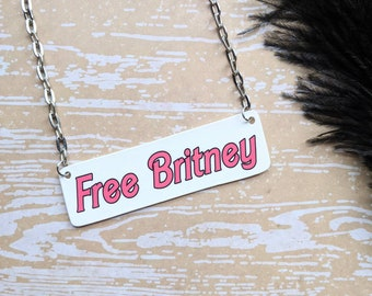Free Britney Necklace Durable Wearable Art
