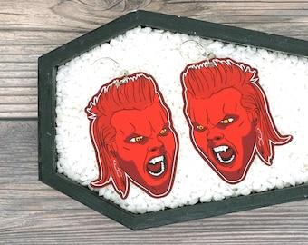 David The Lost Boys Earrings Vampire Earrings Gothic Earrings Goth Earrings Halloween Horror Creepy Earrings Durable Wearable Art