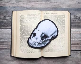 Vampire Bat Skull Bookmark  Nature Natural Desmodontinae Goth Gothic Halloween Horror Creepy Oddities