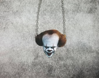 2b788ea275148 2017 Pennywise Inspired Necklace IT Inspired Necklace Horror Necklace Scary  Necklace Clown Necklace Durable Wearable Art