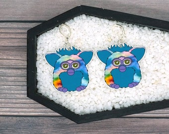 Furby Earrings Fun Creepy Odd Nostalgic Earrings