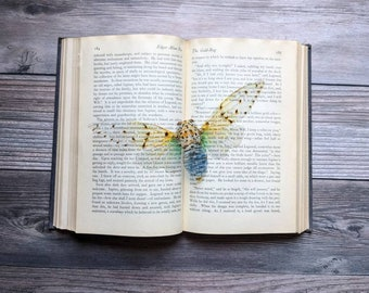 White Ghost Cicada Clear Bookmark Goth Gothic Halloween Horror Creepy Oddities Nature Bug Insect Moth Butterfly