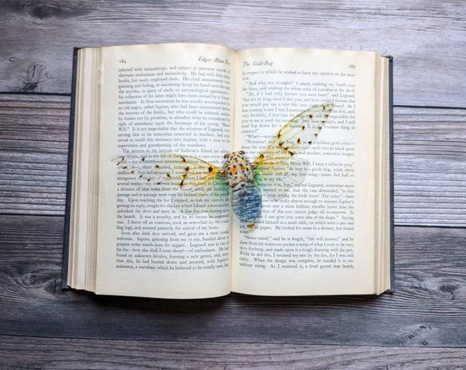Featured listing image: White Ghost Cicada Clear Bookmark Goth Gothic Halloween Horror Creepy Oddities Nature Bug Insect Moth Butterfly