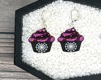 Gothic Cupcake Earrings Halloween Earrings Goth Gothic Creepy Earrings Durable Wearable Art