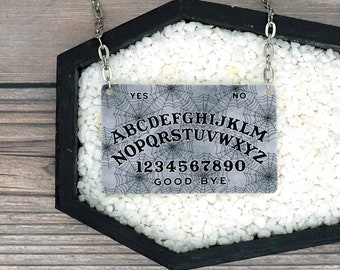Ouija Board Spiderweb Necklace Horror Halloween Goth Gothic Creepy Witch Occult Durable Wearable Art
