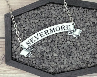 Edgar Allan Poe EAP Inspired Necklace The Raven Nevermore Necklace Gothic Horror Creepy Odd Durable Wearable Art