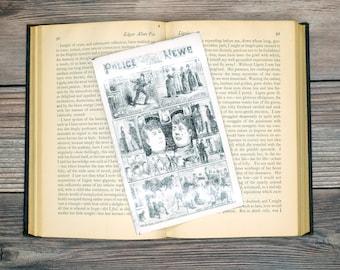 London Illustrated Police News Bookmark Goth Gothic Halloween Horror Creepy Oddities