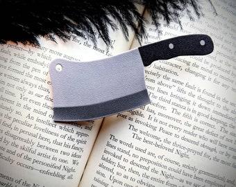 Cleaver Butcher Knife Hair Clip Horror Goth Gothic Halloween Hair Clip Durable Wearable Art
